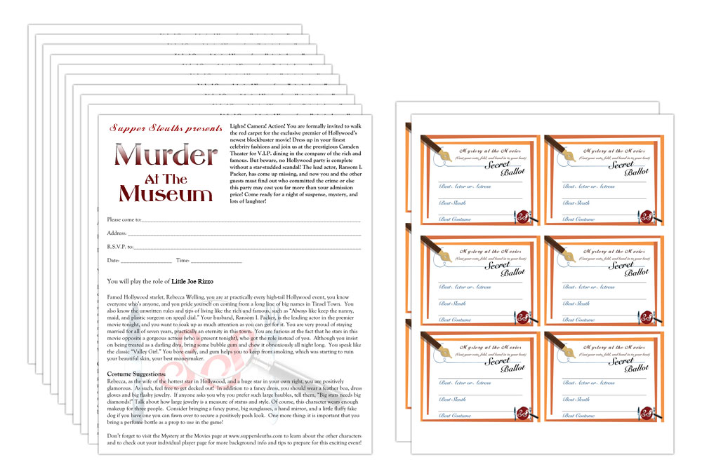 Murder at the Museum 10 Extra Players