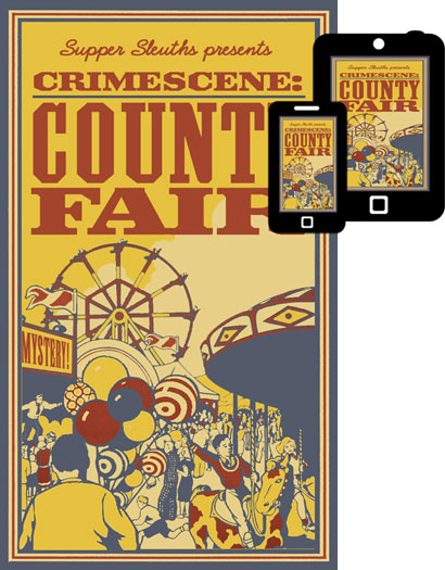 Crimescene:County Fair Mystery Dinner Game Only $19.99!
